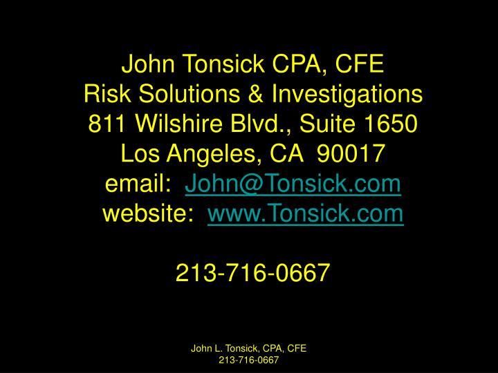John Tonsick CPA, CFE