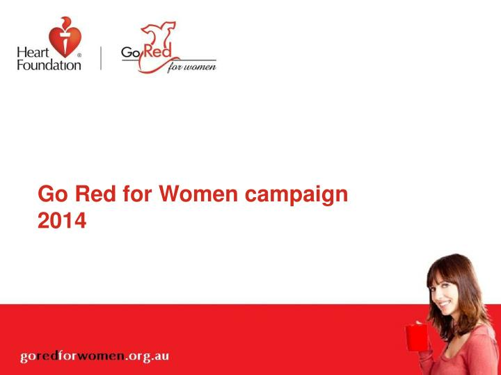 go red for women campaign 2014 n.
