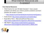 what internet resources are available