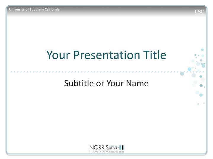 your presentation title