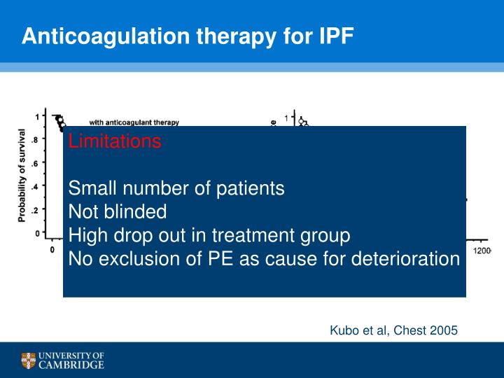 Anticoagulation therapy for IPF