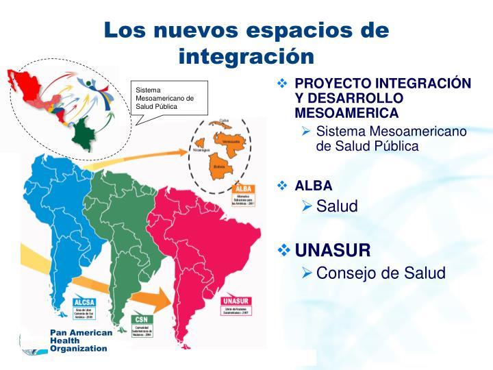 Los nuevos espacios de integración