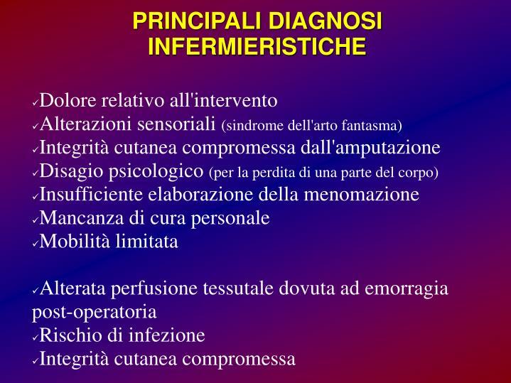 PRINCIPALI DIAGNOSI INFERMIERISTICHE