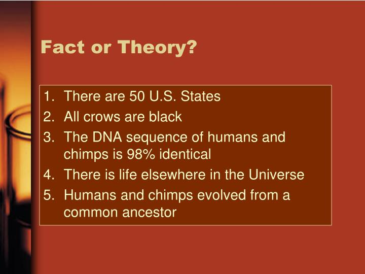 Fact or Theory?