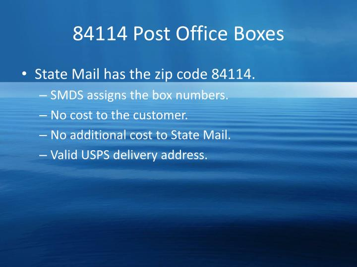 84114 Post Office Boxes