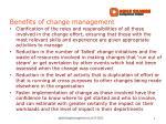 benefits of change management