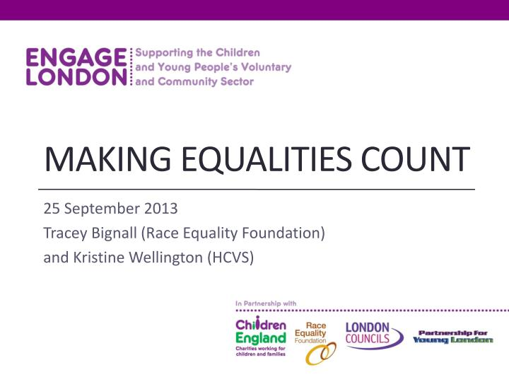 Making equalities count