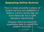 assessing online science