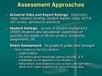assessment approaches