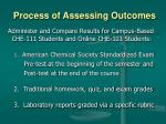 process of assessing outcomes