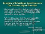 secretary of education s commission on the future of higher education