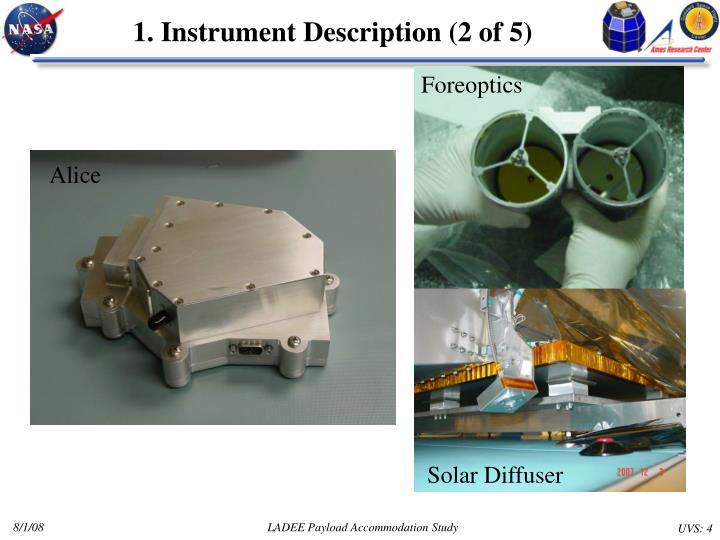 1. Instrument Description (2 of 5)