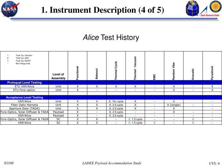 1. Instrument Description (4 of 5)