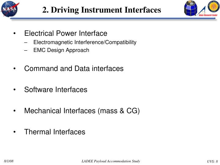 2. Driving Instrument Interfaces