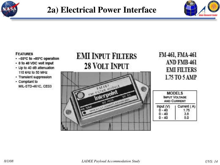 2a) Electrical Power Interface