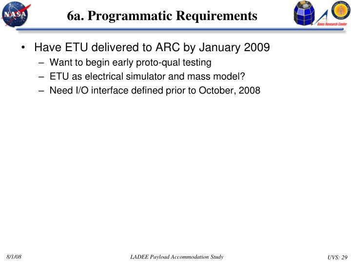 6a. Programmatic Requirements