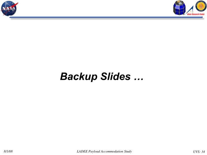 Backup Slides …