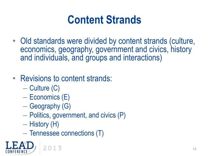Content Strands
