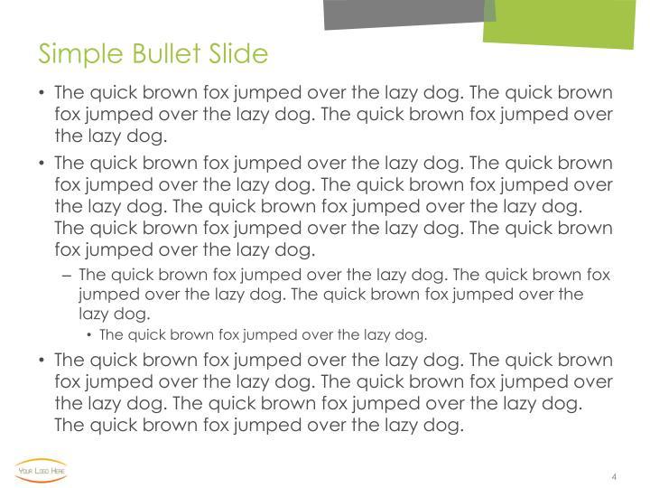 Simple Bullet Slide