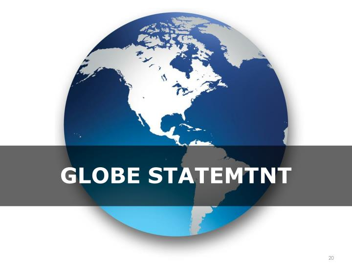 Globe statemtnt