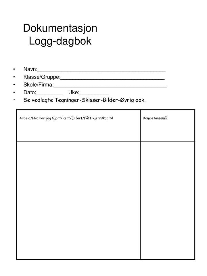 Dokumentasjon logg dagbok1