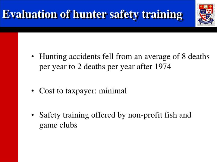 Evaluation of hunter safety training
