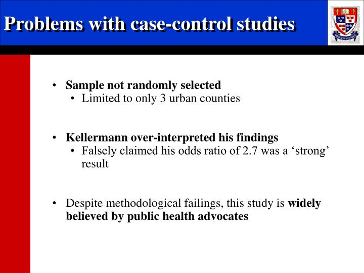 Problems with case-control studies