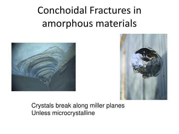 Conchoidal Fractures in amorphous materials