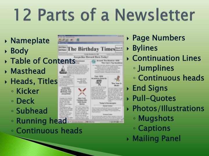 Ppt How Do I Design A Good Newsletter Powerpoint