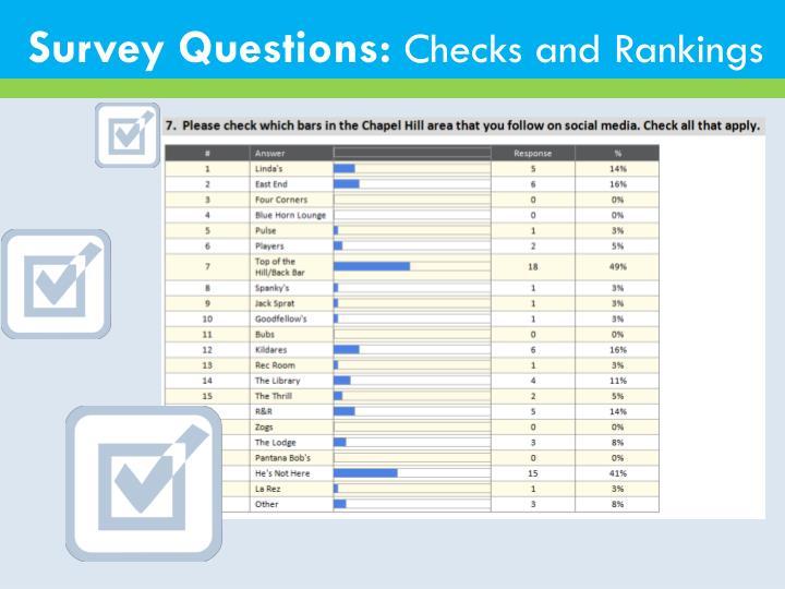 Survey Questions: