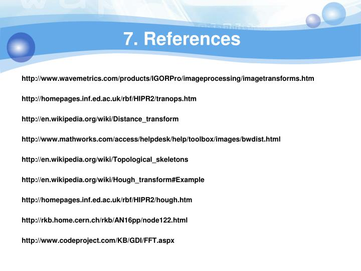 7. References