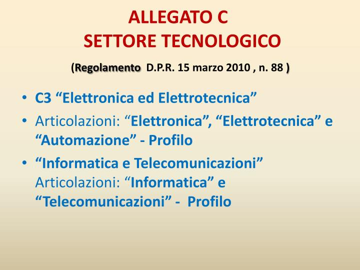 ALLEGATO C