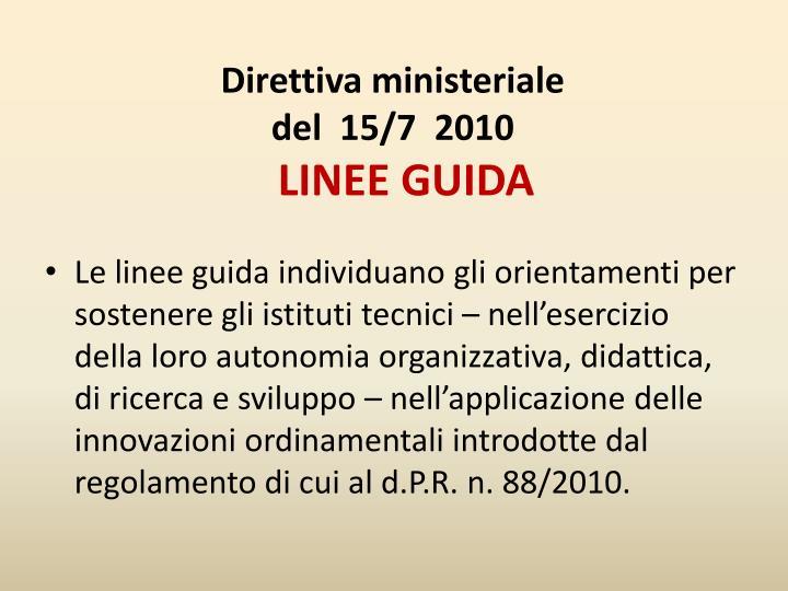 Direttiva ministeriale