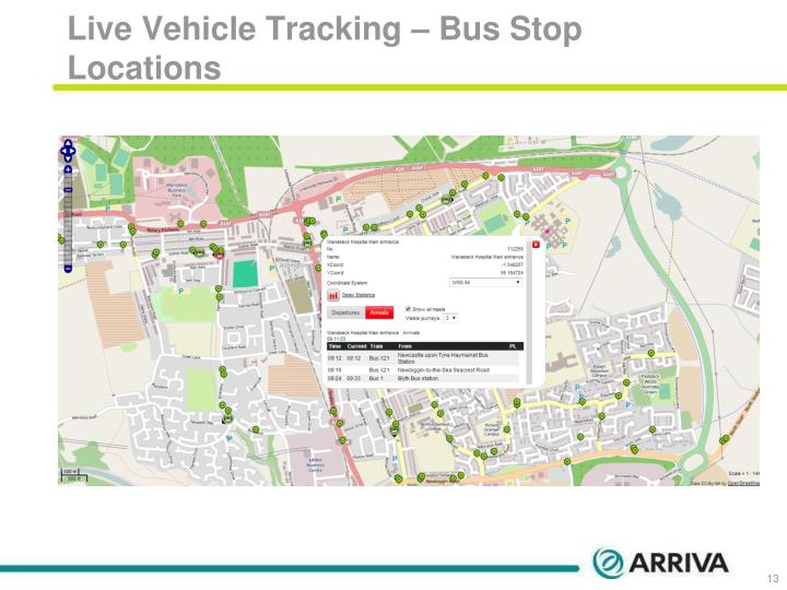 Live Vehicle Tracking – Bus Stop Locations
