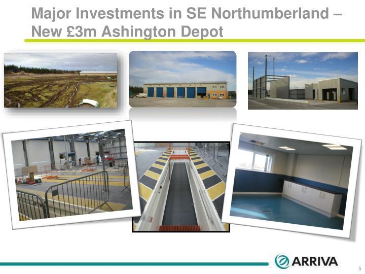 Major Investments in SE Northumberland – New £3m Ashington Depot