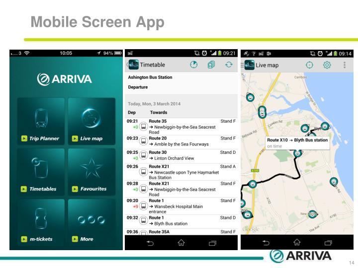 Mobile Screen App