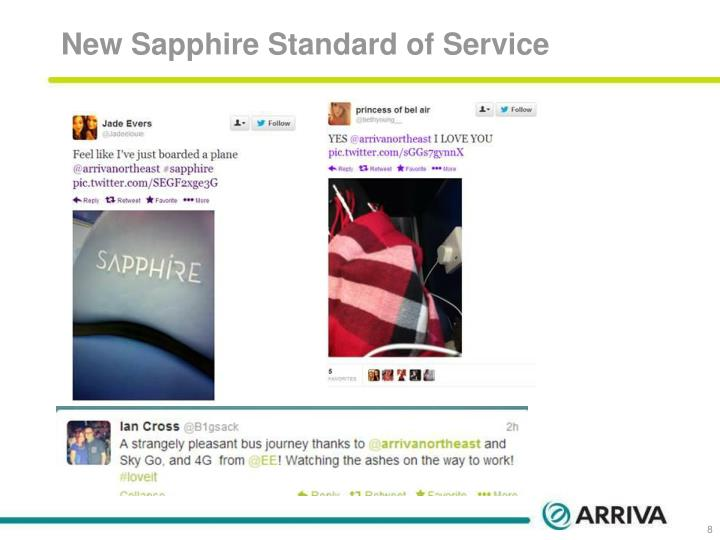 New Sapphire Standard of Service