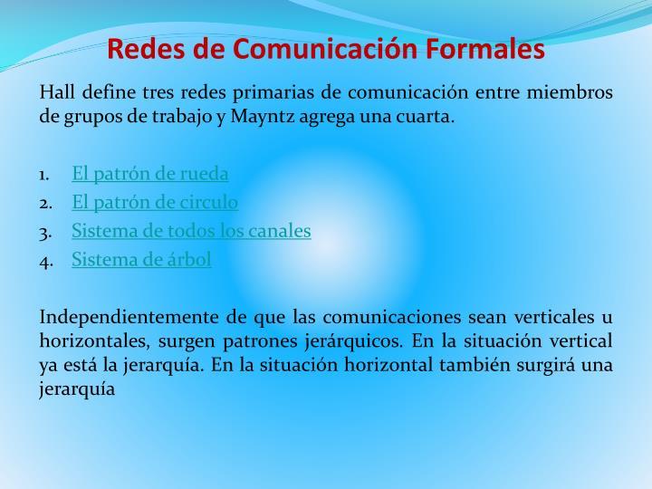 Redes de Comunicación Formales