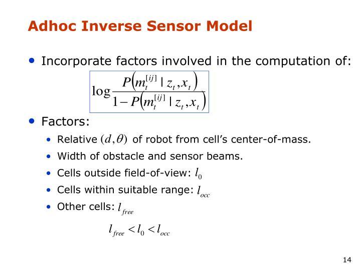 Adhoc Inverse Sensor Model