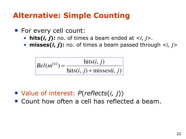 Alternative: Simple Counting
