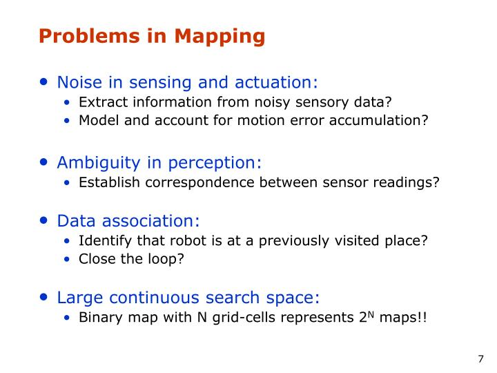 Problems in Mapping