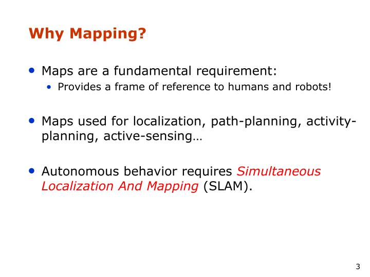 Why mapping