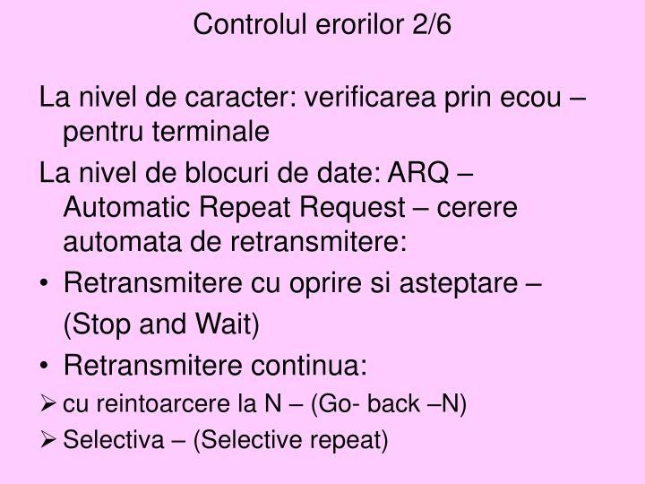 Controlul erorilor 2/6