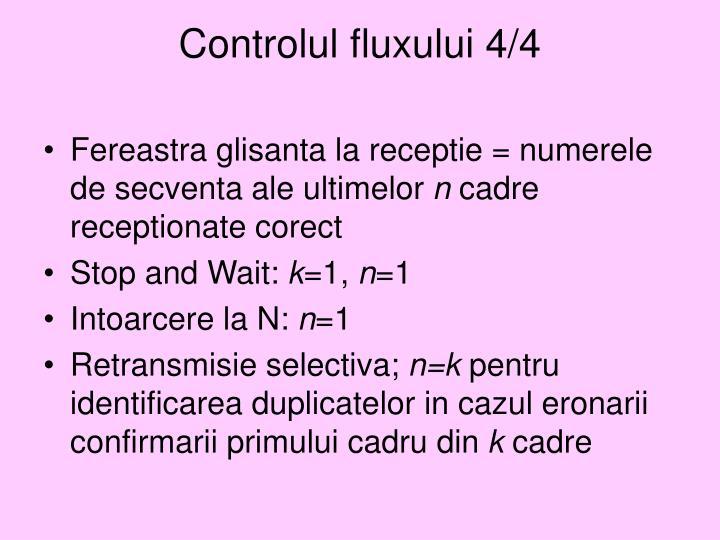 Controlul fluxului 4/4