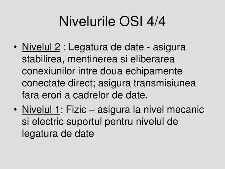 Nivelurile OSI 4/4