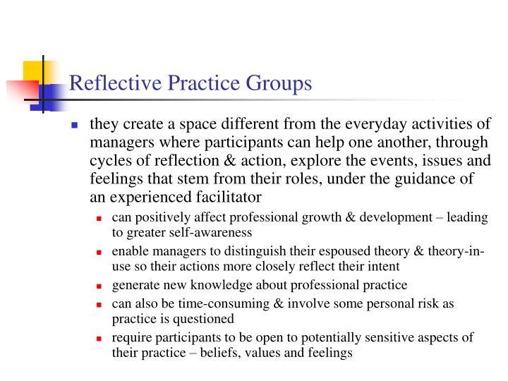 Reflective Practice Groups