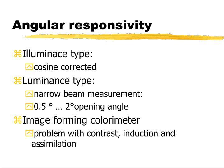 Angular responsivity