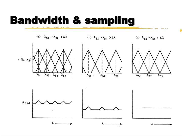 Bandwidth & sampling