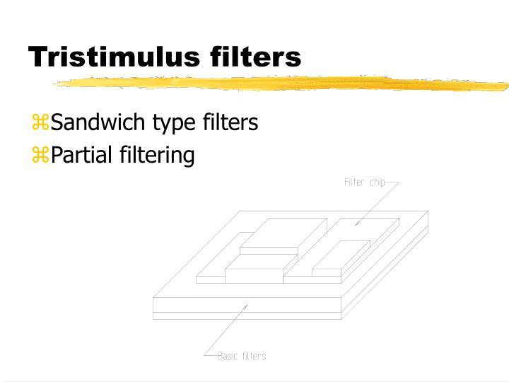 Tristimulus filters