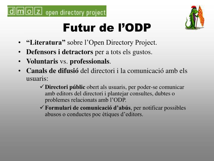 Futur de l'ODP
